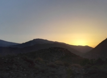 Sunrise in the Sierra Nevada mountains, Granada